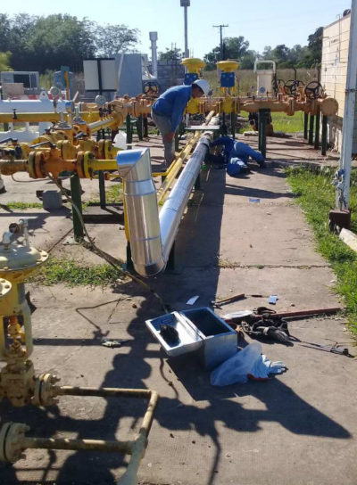 """CAMBIO DE CALENTADORES EN ERP CHACRA LOBOS-URDAMPILLETA Y DARRAGUEIRA"""" PCIA DE BUENOS AIRES"""